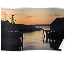 Peggy's Cove Dusk Poster