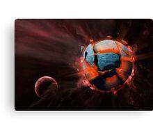 Exploding Planet Canvas Print