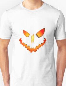 Spooky Jack O Lantern Face Unisex T-Shirt