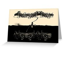 A Tale of Infinite Cities (Landscape) Greeting Card