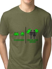Personal Space Invaders (BG) Tri-blend T-Shirt