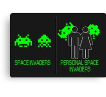 Personal Space Invaders (BG) Canvas Print