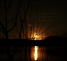 Moonrise - Lake Eildon by Alex Evans