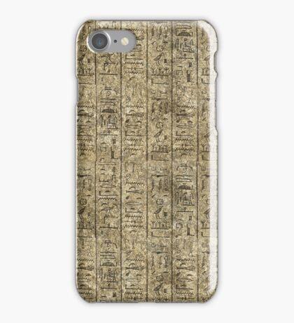 Egyptian Hieroglyphics iPhone Case/Skin