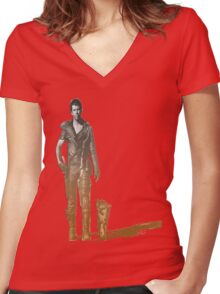 Mad Max Road warrior Women's Fitted V-Neck T-Shirt