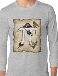 Pirate Pi Day Pi rate Swashbuckling Pi Symbol Long Sleeve T-Shirt