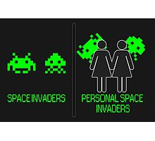 Personal Space Invaders (GG) Photographic Print