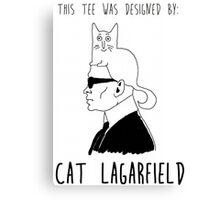 Cat Lagarfield  Canvas Print