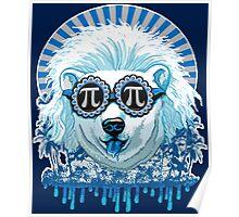Pi Polar Bear Wearing Pi Day Shades Poster