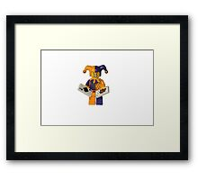 LEGO Jester with cards Framed Print