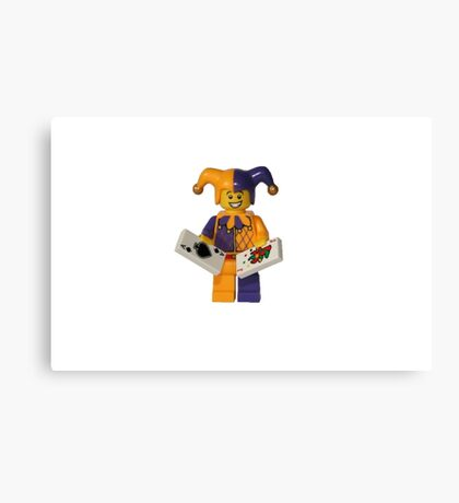 LEGO Jester with cards Canvas Print