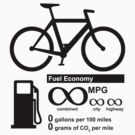 Bicycle Infinity MPG Fuel Economy by robotface