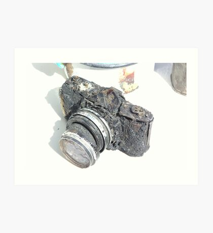Burnt Camera Art Print