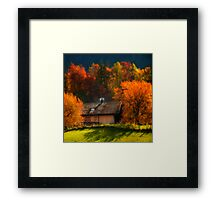 Around The Fireplace Framed Print