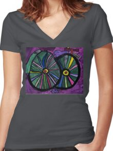 Bike , By B.W.Picture Guest artist, Matilda Burke Women's Fitted V-Neck T-Shirt