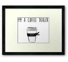 Coffe Dealer Ninja Framed Print