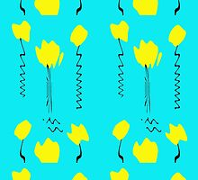 Yellow Tulips by Marie Van Schie