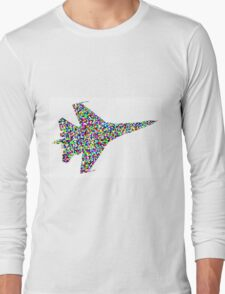 The airplane stays up because it doesn't have the time to fall Long Sleeve T-Shirt