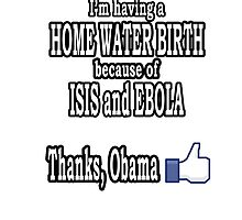 I AM HAVING A HOME WATER BIRTH BECAUSE OF ISIS AND EBOLA. THANKS, OBAMA. by bryan7474