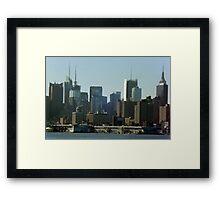 NYC Skyline Framed Print