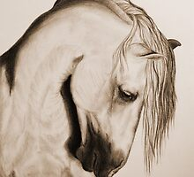 """""""To Never be Afraid"""" Sepia by SD 2010 Photography & Equine Art Creations"""