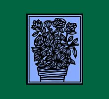Cedilla Flowers Blue Black Tank Top