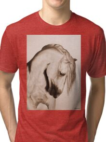 """To Never be Afraid"" Sepia Tri-blend T-Shirt"