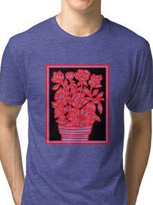 Ravel Flowers Red Black Blue Tri-blend T-Shirt