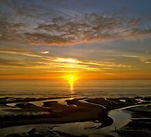 Bispham Sunset near Blackpool by Steve  Liptrot