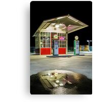 Gas Station Reflection Canvas Print