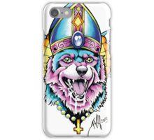 Pope Dog - White iPhone Case/Skin