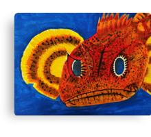 Grumpy Sculpin Fish Canvas Print