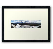Icefields Panorama, Alberta Framed Print
