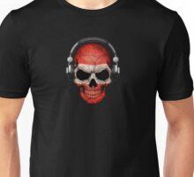 Dj Skull with Austrian Flag Unisex T-Shirt