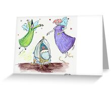 Around the cot Greeting Card