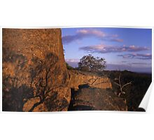 Glowing Rocks Sunset, Melville Caves Poster