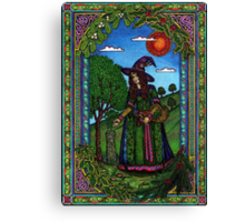 Yule Two, Evergreen (in Colour) Canvas Print