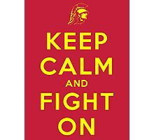 Keep Calm and Fight On (Cardinal iPhone Case) Photographic Print