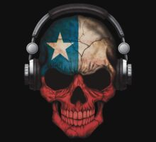 Dj Skull with Chilean Flag T-Shirt