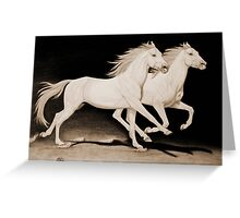 """Race of Life"" Sepia Greeting Card"