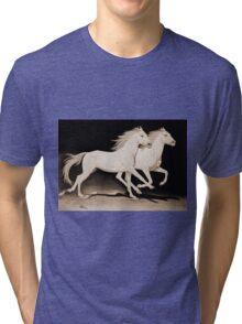 """Race of Life"" Sepia Tri-blend T-Shirt"