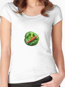 HOT Women's Fitted Scoop T-Shirt