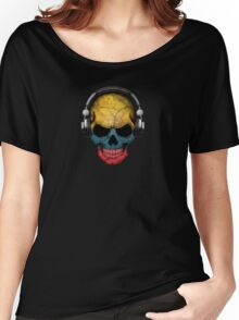Dj Skull with Colombian Flag Women's Relaxed Fit T-Shirt