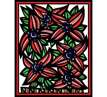 Portfolio Flowers Red Green Blue Photographic Print