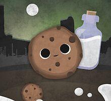 Midnight Cookie with Milk by TICS