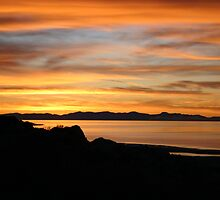 Sunset at Antelope Island by Freese
