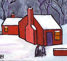 The little red house by sword