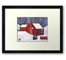 The little red house Framed Print