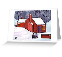 The little red house Greeting Card