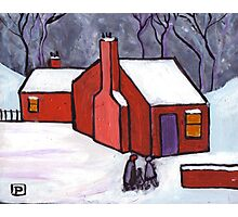 The little red house Photographic Print